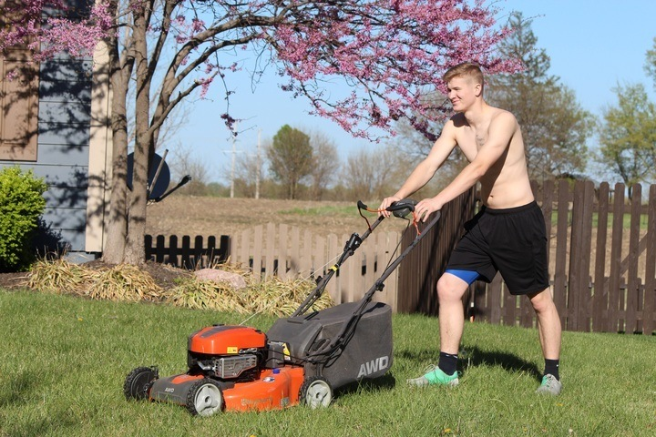 Push mowers are more beneficial than power mowers in burning fat.