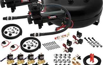 Vixen Air Suspension Kit for Truck/Car Bag/Air Ride/Spring. On Board System- Dual 200psi Compressor, 4 Gallon Tank. for Boat Lift,Towing,Lowering,Load Leveling,Onboard Train Horn VXX1208H/4840DB