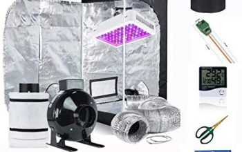 "Supergrower Indoor Grow Tent + 600W LED Full Spectrum Grow Light Complete Kits for Indoor Plants 4 Inch Fan and Filter Ventilation System Inlcuded (4″ Fan Filter+600W LED Light+Grow Tent 32″ X32""X60)"