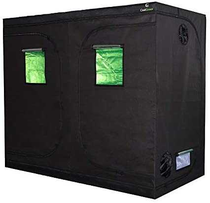 """96""""x48""""x80""""Mylar Hydroponic Grow Tent with Obeservation Window and Floor Tray for Indoor Plant Growing 8x4 Feet (96""""x48""""x80"""")"""