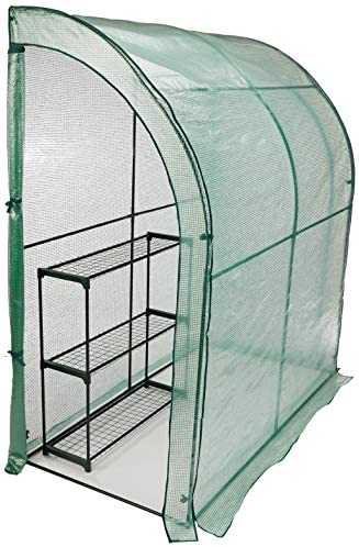 CO-Z Lean-to Greenhouse, Portable Walk in Green House with PE Cover, Waterproof Hot House UV Protected Walking Plant Green House, 3.3 x 6.6 x 7.0 Feet.