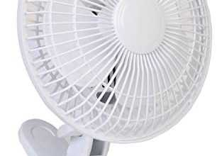 CoolWorks CT-06 6″ 2-Speed Clip Fan, White