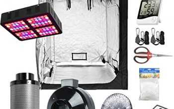 Hydro Plus Grow Tent Complete Kit LED 600W Grow Light + 6″ Filter Fan Kit + 60″x60″x80″ Grow Tent Room + Hydroponic Indoor Plants Growing System Accessories (60″x60″x80″ Kit)