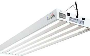 Hydrofarm FLT44 System 4′ Fluorescent Grow Light, 4-Feet, White