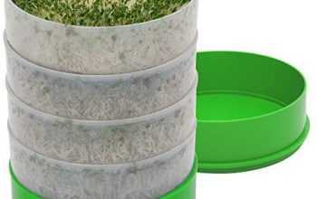 Kitchen Crop VKP1200 Deluxe Kitchen Seed Sprouter, | 6″ Diameter Trays, 1 Oz Alfalfa Included