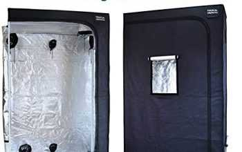 Magical Growth 4ft x 4ft x 6.5ft Highly Reflective Maylar Grow Tent with Front Viewing Window