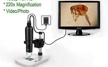 Mustcam 1080P Full HD Digital Microscope, HDMI Microscope, 10x-220x magnification, to Any Monitor/TV with HDMI-In, Photo Capture, Micro-SD Storage, PC supported