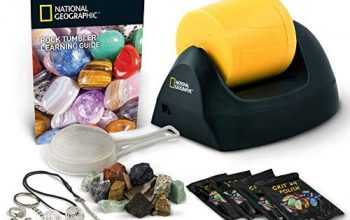NATIONAL GEOGRAPHIC Starter Rock Tumbler Kit-Includes Rough Gemstones, 4 Polishing Grits, Jewelry Fastenings & Detailed Learning Guide – Great Stem Science Kit For Mineralogy & Geology Enthusiasts