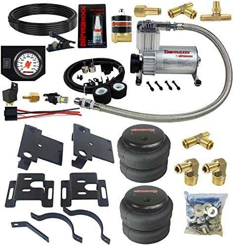 airmaxxx Over Load Tow Kit & Compressor Fits 2001-10 Chevy 2500 3500 Trucks