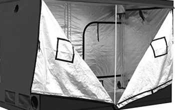iPower 60″x120″x78″ 5' x 10' Mylar Hydroponic Water-Resistant Grow Tent with Observation Window and Removable Floor Tray, Tool Bag for Indoor Plant Seedling, Propagation, Blossom, etc