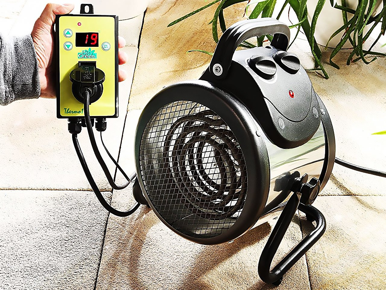 Electric Greenhouse Heater with Thermostat