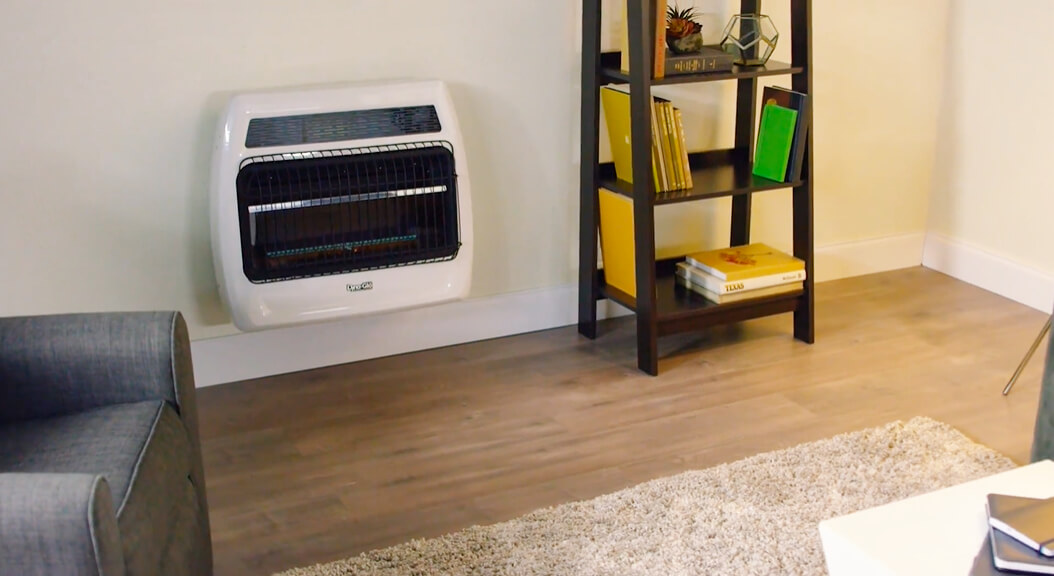 Propane Wall Heaters with Thermostat and Blower