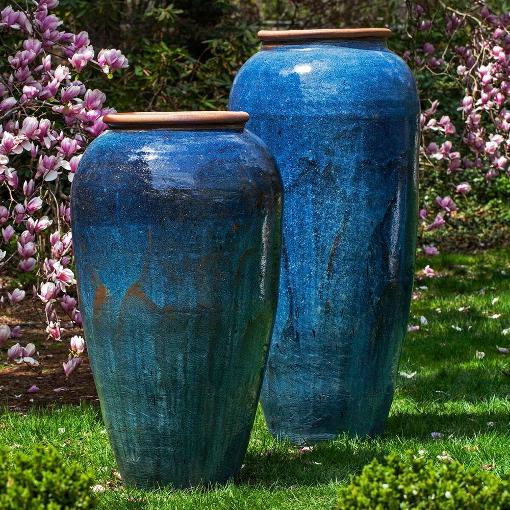 Tall Blue Planters