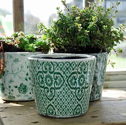 Large Glazed Ceramic Planters